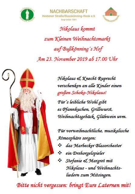 Einladung zum kleinen Weihnachtsmarkt !  Norbert Reukes