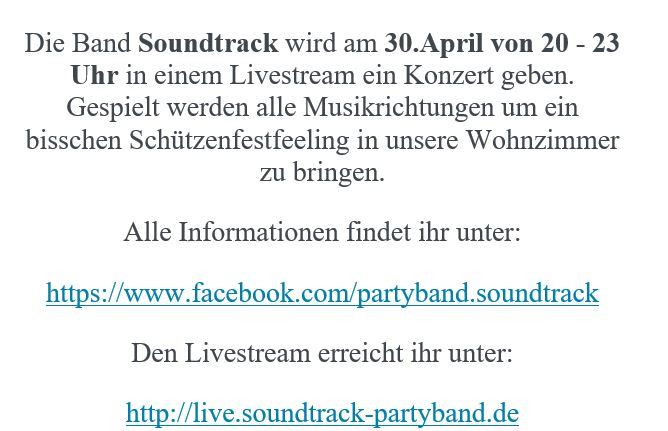 Livestream – Tanz in den Mai