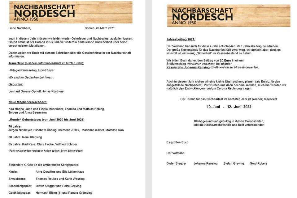 Informationen über die Nachbarschaft Nordesch